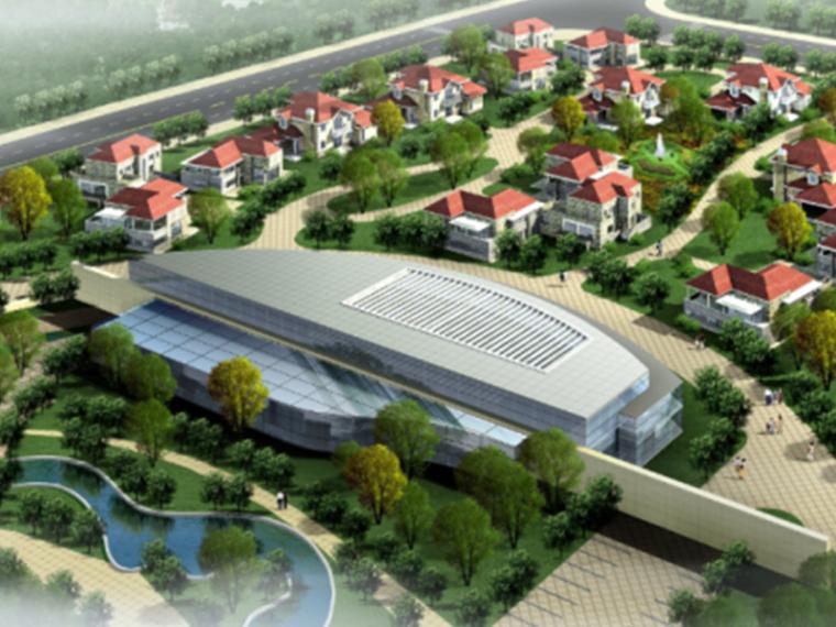 山东海阳核电专家村规划设计CAD及方案文本(清华大学建筑设计研)