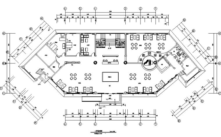 香悦四季城售楼处空间设计施工图(附效果图)