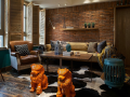 混搭复古风格木质样板房空间设计效果图