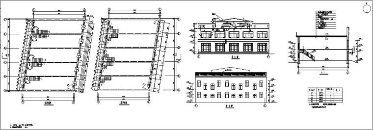 欧式多层沿街商铺建筑设计方案初设图CAD-4