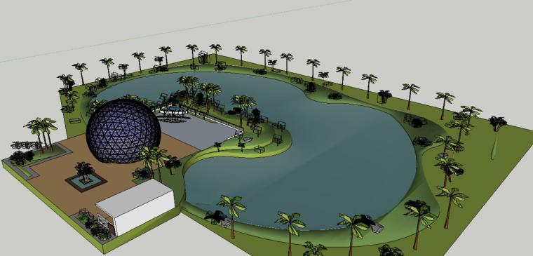 小庭院景观设计模型-场景一