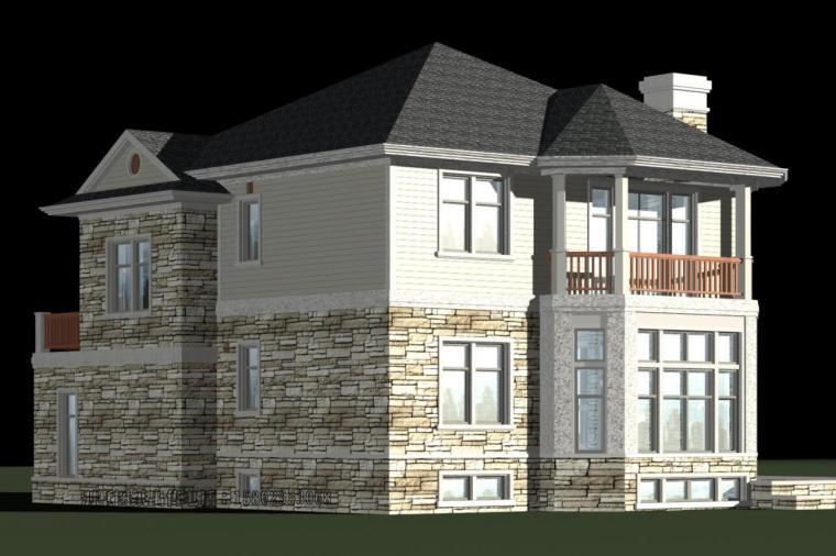 混合欧式风格别墅建筑设计