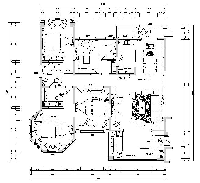 【江苏】现代简约风格样板房设计施工图(附效果图)_4