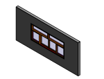 bim族库-revit族文件-公制嵌套推拉窗