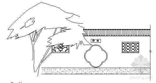 古典景墙立面设计图(一)