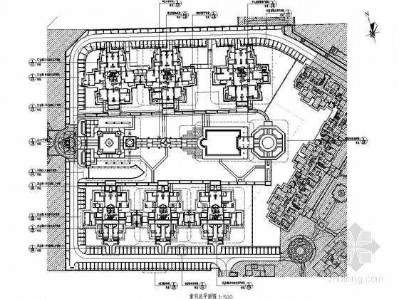 [成都]经典意式风情高档居住小区景观设计施工图