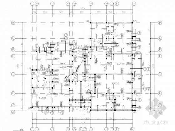 七层砌体房屋结构施工图(带PKPM模型)