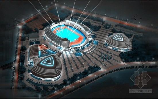 [福建]体育中心体育场+体育馆+游泳馆+景观塔+体育大门全部幕墙施工图