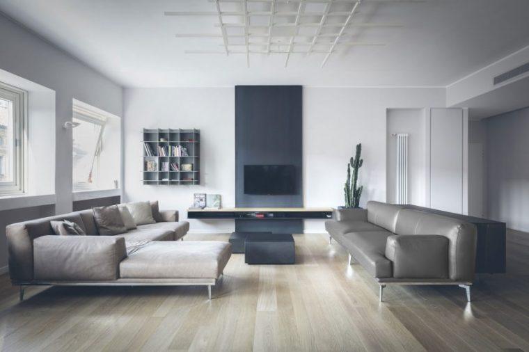 米兰:简洁淡雅的现代公寓_1