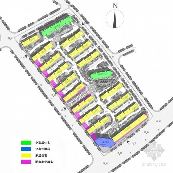 英伦风多层及高层住宅区规划设计分析图