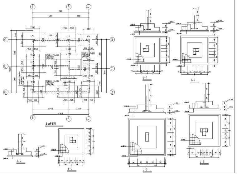 半框架半砖混结构独栋别墅建筑施工图设计-结构详图