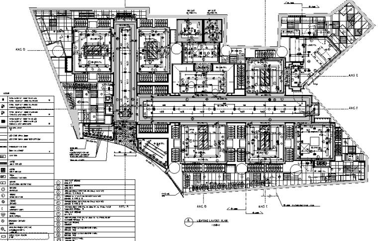 [上海]恒隆广场盟可睐Moncler专卖店设计施工图(附官方摄影图)-灯光布局