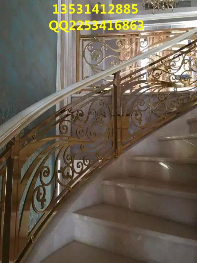 档别墅铝板雕刻楼梯护栏欣赏图片