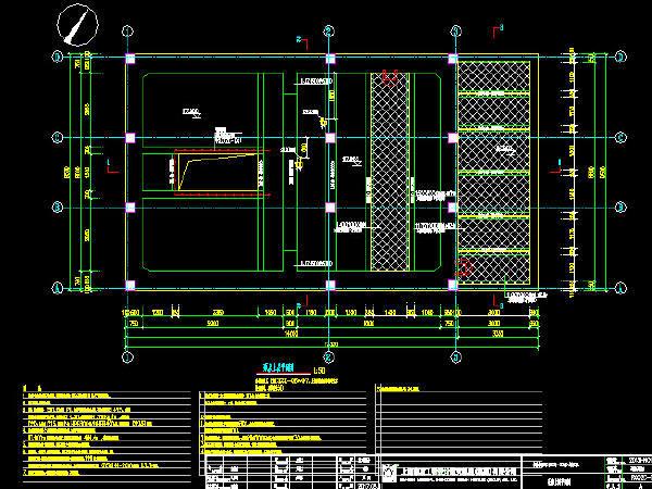 市政道路地道泵房结构及建筑设计施工图29张(单层框架结构、进水闸门井)