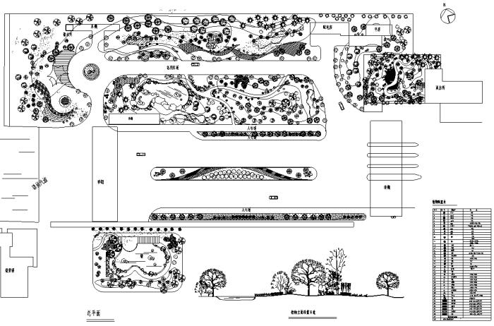 滨河景观设计植物配置详图