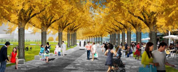 [上海]生态绿色轴线城市公园景观规划设计方案