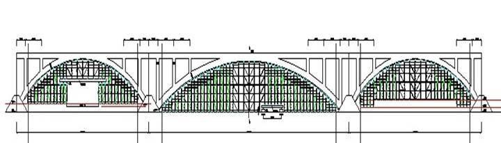 现浇钢筋砼板拱桥主拱圈施工技术