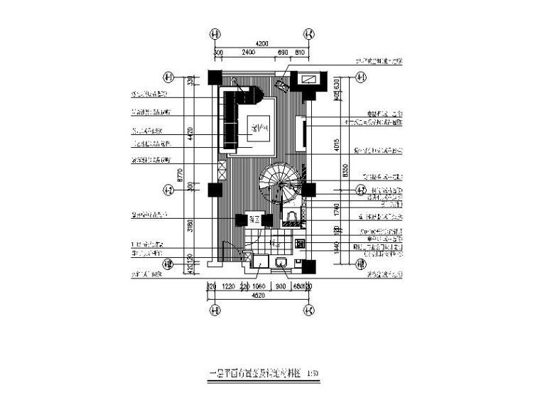 现代风格复式单身公寓CAD施工图(含效果图)