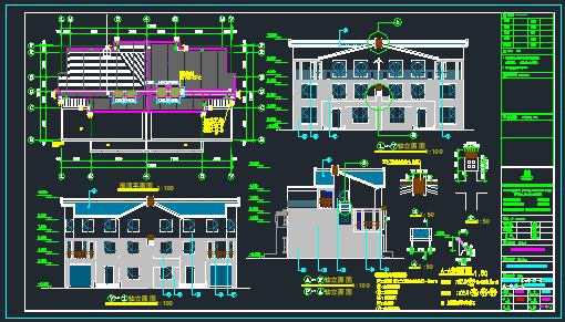[宁夏]多层框架剪力墙结构别墅(含全专业)