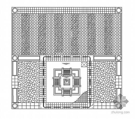 广场水池跌水施工图