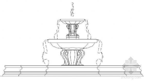 欧式喷泉水池详图