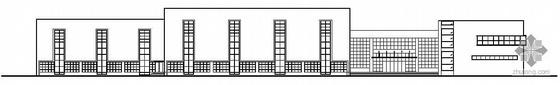 某居住区二层社区活动中心建筑施工图