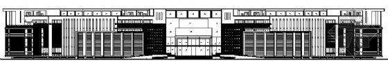 弧形平面办公楼建筑图
