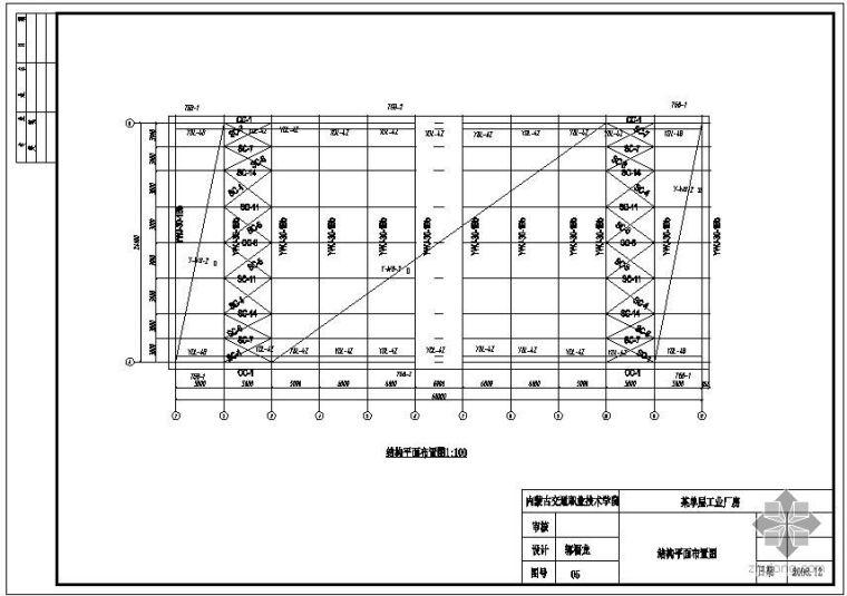 [学士]某单层工业厂房毕业设计(含计算书、建筑结构设计图)