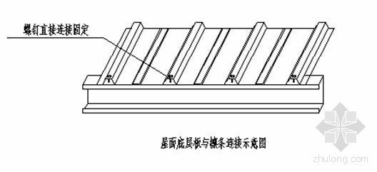 压型彩钢屋面板施工方案