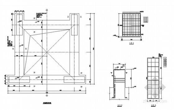塔吊基础节点详图