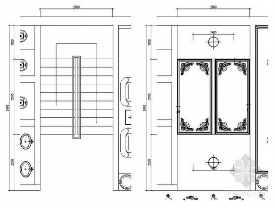 某奢华欧式足疗会所楼梯间装修图(含效果)