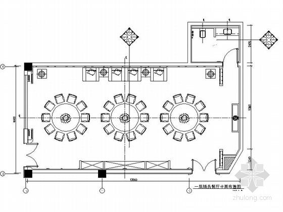 [东莞]五星级大酒店特色风情餐厅CAD装修施工图