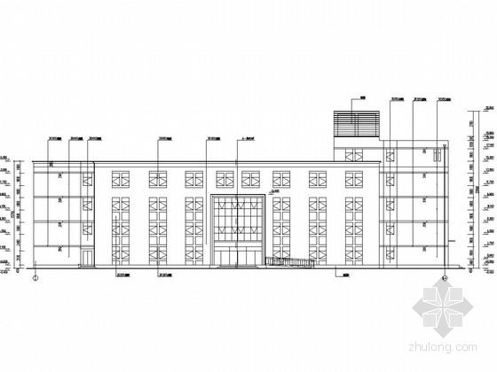 [河北]四层框架结构药业有限公司办公楼结构施工图(含建筑图)