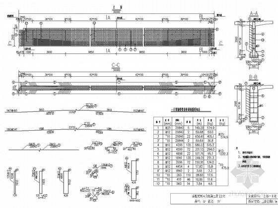跨径30m预应力混凝土T梁桥上部构造通用图210张3套(梁高2m)