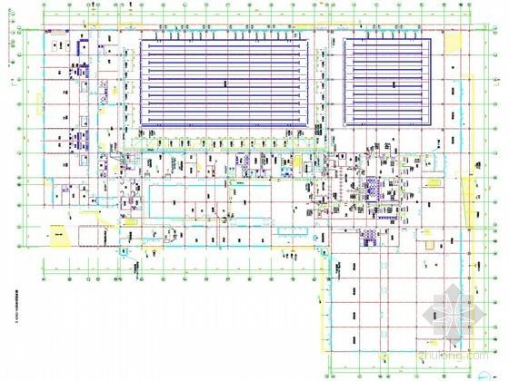 [河北]多层游泳训练中心空调通风及防排烟系统设计施工图(采暖设计)