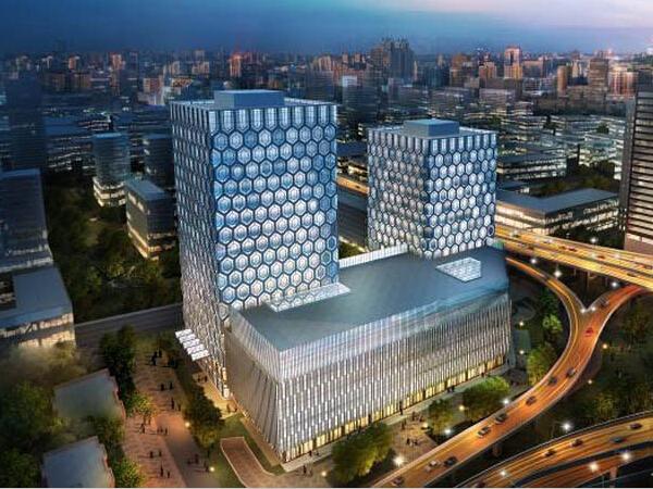 """""""蜂巢型""""支柱钢结构框架核心筒结构大厦结构施工图"""
