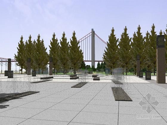 滨江广场SketchUp模型下载
