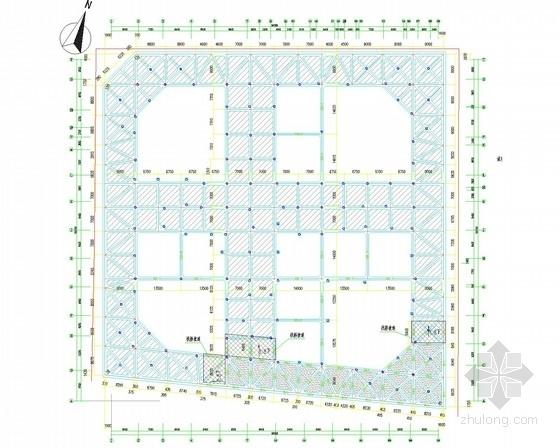 [上海]16米深基坑灌注桩加三道内支撑支护施工图(三轴搅拌桩止水)