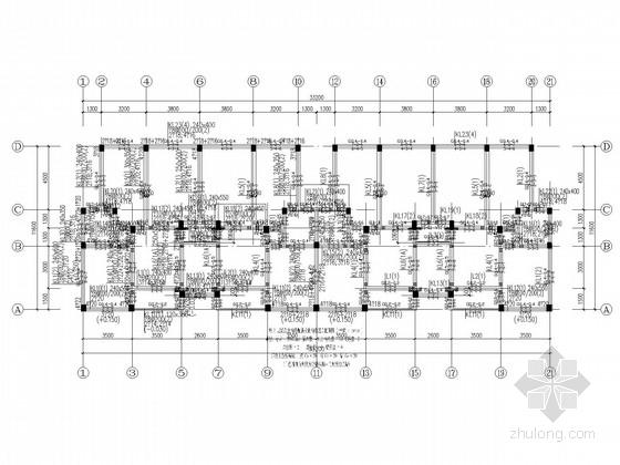8层坡屋顶框架住宅结构施工图