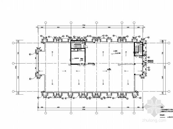 内蒙古17层公寓GRC幕墙施工方案图纸-屋顶平面图
