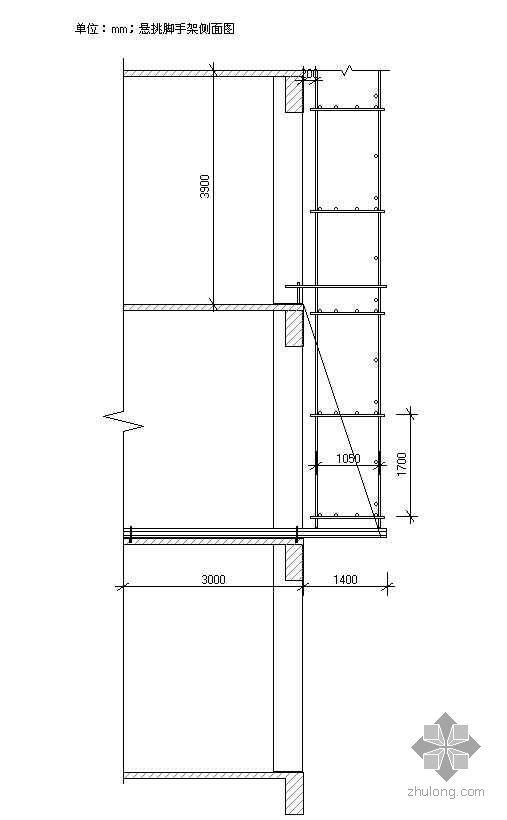 江西某悬挑脚手架带联梁计算书(高度20.4米 双排)