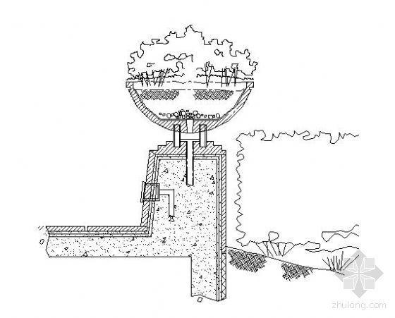景观花钵详图