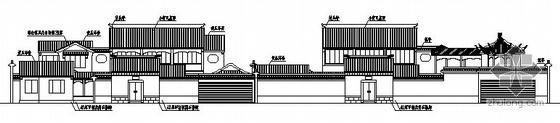 某两层仿古庭院式建筑施工图