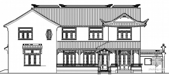 某苏式江南二层别墅建筑结构水电施工图