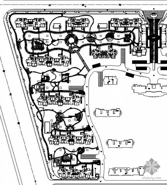 南京某居住区局部区域景观设计施工图