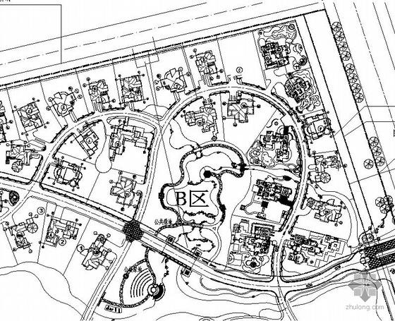 上海某别墅区景观设计总图