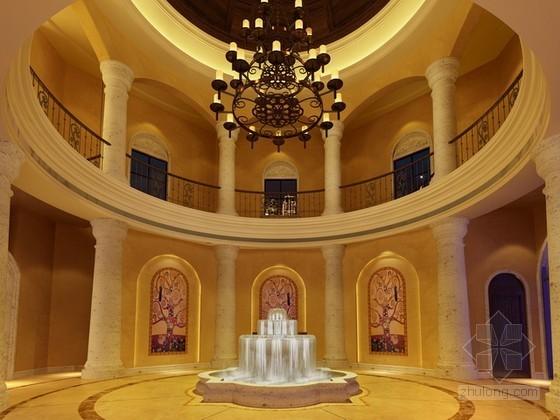欧式酒店大堂3d模型下载
