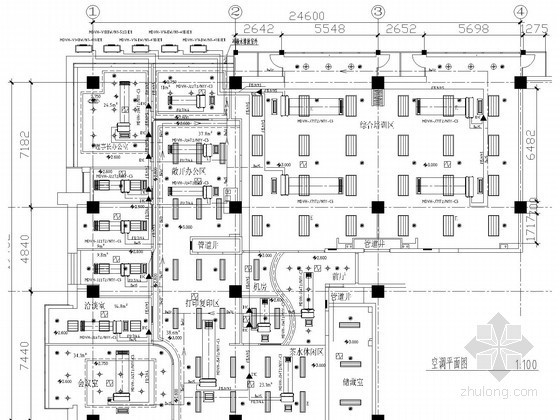 [北京]小型宾馆暖通空调系统设计施工图(含装修设计)