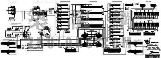 青岛市某污水处理厂工艺流程图