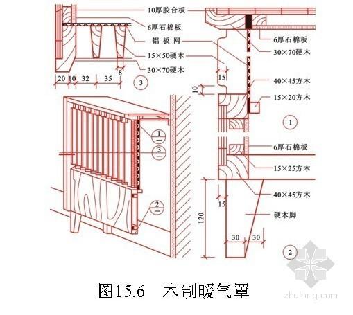 建筑装饰工程细部施工做法(橱柜、窗帘盒、护栏等)